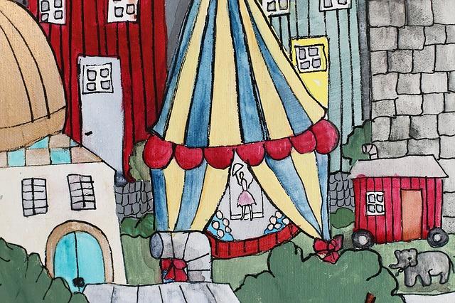 kreslený cirkus